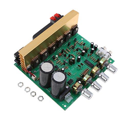 Almencla DIY Audio Amplifier Board 2.1 Canali 100W + 100W + 120W Subwoofer AMP Amplifica Il Circuito con Manopola