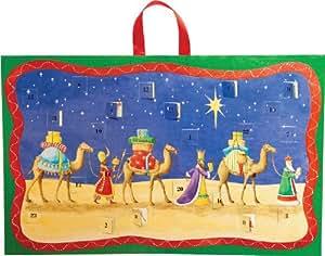 Caspari Entertaining with Caspari Christmas Flat Advent Calendar, Three Wise Men