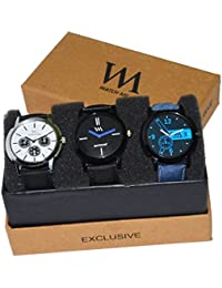 WM Stylish Watches For Boys And Men Combo Gift Set With Sunglasses WMD-008-WMC-004-WMC-002aeons