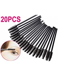 SODIAL(R) 20PCS Mascara Baguettes Brosses Pour les Cils Extensions Applicateur