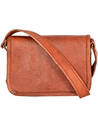 Leathercraft Women's Sling Bag (Brown, ME05), 7 Inches* 1.6 Inches * 5.3 Inches. Genuine Leather Dark Brown Sling...