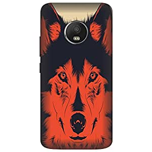 Saviyo Wolf Face Hard Polycarbonate Designer Back Case Cover for Motorola Moto G5 Plus