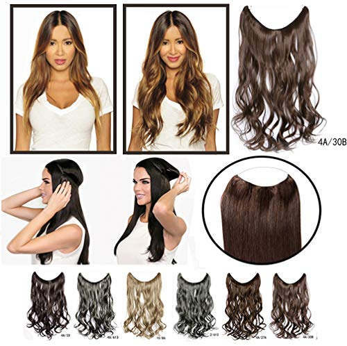 Crown Miracle Wire Hair Extension Full Head Lose Body Wavy Haarteil Secret Hair Piece for Women with Thin Hair