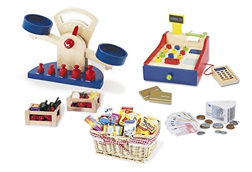 Pinolino Kaufladenzubehör-Set groß, 6-tlg., perfekte Ergänzung zu einem Kaufladen, für Kinder ab 3 Jahren -