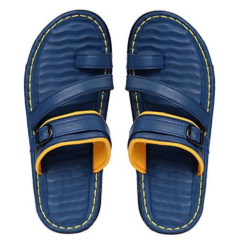 Sapience Men's Leather Blue Lehar Sandals - Mens-Sandle-Lehar-Blue_6