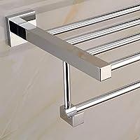 XXTT-Cremagliera di tovagliolo del basamento quadrato in acciaio inox, porta asciugamani, portasciugamani resistente alla corrosione , routine