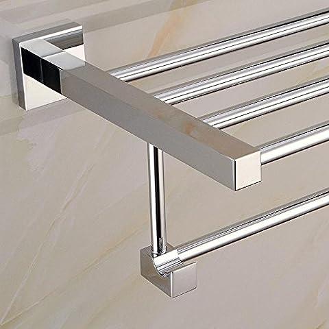 SSBY Acero inoxidable cuadrado pedestal toallero, toallero de baño, toallero resistente a la corrosión , routine