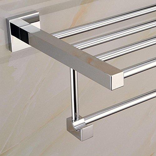 SSBY Porte-serviette piédestal carré en acier inoxydable, porte-serviette salle de bain, barre à serviettes résistant à la corrosion , routine