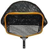 pooline Produkte 11524GL groß Schwere Pflicht Tief Rechen mit breiter Mund und stabiler Weich und Big Mesh Net, inkl. orange Gestell, schwarzer Griff und Schwarz Netz