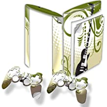 My Music 10006, Guitar, Wrap Around Skin Sticker Decal Vinyl Wrap Cover Protector with Leather Effect Laminate and Colorful Design for PS3 Play Station 3 Super Slim Game Console and 2 Controllers. [Importación Inglesa]