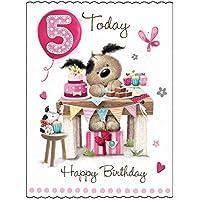 Happy Birthday - 5 Today - Girl Card.
