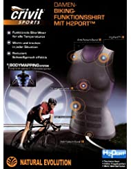 Función para mujer camiseta H2 puerto TM Gr.M 40/42 colour: negro/morado Bike wear ropa interior funcional