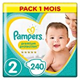 Pampers - New Baby - Couches Taille 2 (3 - 6 kg)  ( 4 - 8 kg ) - Pack 1 mois (x240 couches)