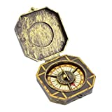 Caribbean Pirate Golden Compass Fancy Dress Costume Prop Accessory