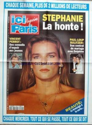 AFFICHE DE PRESSE [No 2505] du 07/07/1993 - STEPHANIE DE MONACO - LA HONTE - PAUL-LOUP SULITZER - MARIAGE AVEC DELPHINE - VINCENT PERROT.