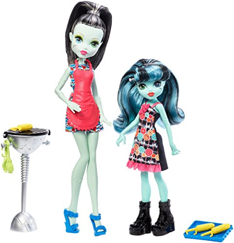 Monster High fkp50 Monster Familie Frankie Stein und Alivia Puppen (Monster High Kleid)