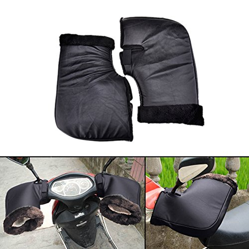 Guanto da moto,Sundlight 1 paio di guanti da motocicletta con guanto di protezione impermeabile e peluche,14.96'x10.24'