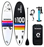 WOWSEA Tabla Hinchable Paddle Surf/Sup Paddel Surf con Inflador, Mochila, Remo,...