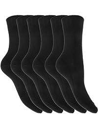 Chaussettes unies (lot de 6 paires) - Femme