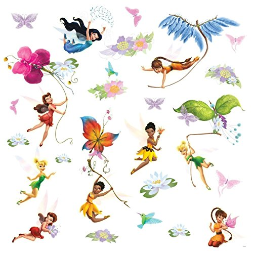 RoomMates RMK1493SCS - Pegatinas de pared, diseño Disney Fairies