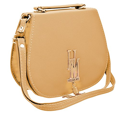 BFC-Buy For Change Stylish Elegant Multi Pocket Sling Side Bag Cross Body Purse with Adjustable Strap For Women And Girls(Cream Bag)