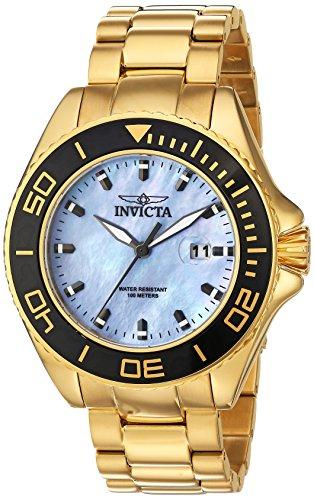 Invicta 23071 Pro Diver Reloj para Hombre acero inoxidable Cuarzo Esfera platino