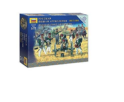 Zvezda Models 1/72 Russian Foot Artillery Napoleonic Wars Model Kit