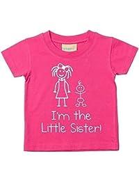 I m The Little Sister camiseta de color rosa para bebé disponible en tamaños 0