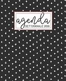 Agenda: 2018 Agenda settimanale italiano : 19x23cm : Nero, bianco e corallo: Volume 16