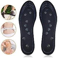 Teepao Magnetische Massageschuh-Einlegesohlen, für Gesundheits- und Fußgewölbe, magnetisch, Akupressurtherapie... preisvergleich bei billige-tabletten.eu