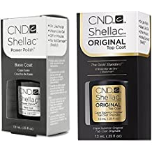 CND, Set di Top Coat e base per smalto Shellac, 2 pz. da 7,3 ml