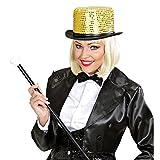 Haut-de-forme paillettes soirée à thème chapeau scintillant show dance doré couvre-chef disco danseuse club déguisement