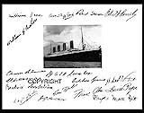Pasajeros del Titanic edición limitada firmada foto + Cert impreso
