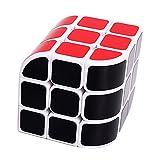 MZStech Nuevo Diseño Estructural de Curvo Triedro Cubo Magico 3x3x3 Cube Puzzle (Blanco)
