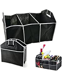 Collapsible Black Car Trunk Organizer Toys Food Storage Truck Cargo Container Bags Box Car Stowing Styling Auto...