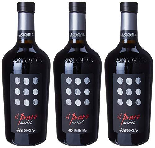 """Astoria Merlot""""Il Puro"""" Doc - 3 bottiglie da 750 ml"""