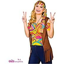 Adulto Mujer Cool Hippie Set Halloween / Carnaval Disfraces - M - UK 14/16 - 42/44 ""