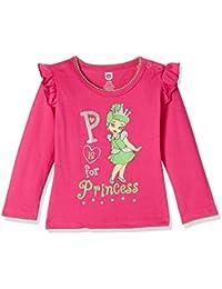 Baby League Baby Girls' Animal Print Regular Fit T-Shirt