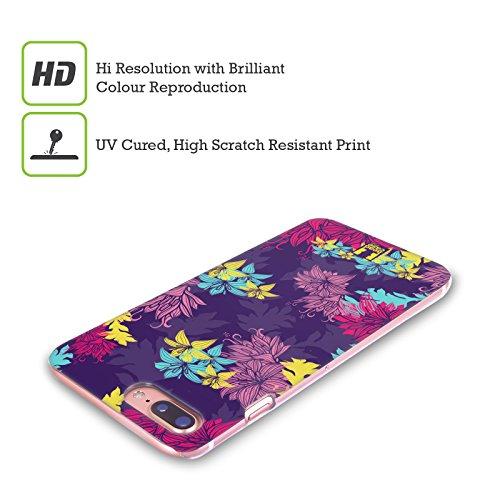 Head Case Designs Oro Grano Ornamenti Botanici Cover Retro Rigida per Apple iPhone X Viola Inglese