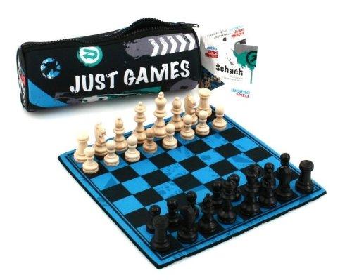 Weiblespiele 06110 Schachspiel 'Just Games' aus Neopren mit Spielfiguren aus Holz