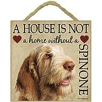 Spinone Italiano Dog–Placca 12,7x 12,7cm casa 'non è un' da appendere o sul supporto cavalletto.. - Puppy Dog Wall Plaque
