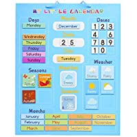 My First Calendar, Magnetic with Hanging Loop, 42x35cm - Educational Board Fun Toy About Weather Seasons Days Weeks Months - Ideal Christmas Birthday Gift for Kids Children, for Home & School.