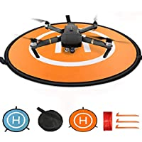 KINGWON Fast Fold RC Drone Landing Pad for DJI Mavic Air Accessories,Diameter of 30 inch (75cm) Waterproof Landing Mat for Remote Controlled Quad copters like DJI Phantom and Other Helicopters