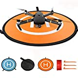 KINGWON 75cm RC Drone Landing Pad,Pieghevole Impermeabile Pad di Atterraggio pour DJI Mavic PRO,Mavic Air,DJI Phantom 2 3 4