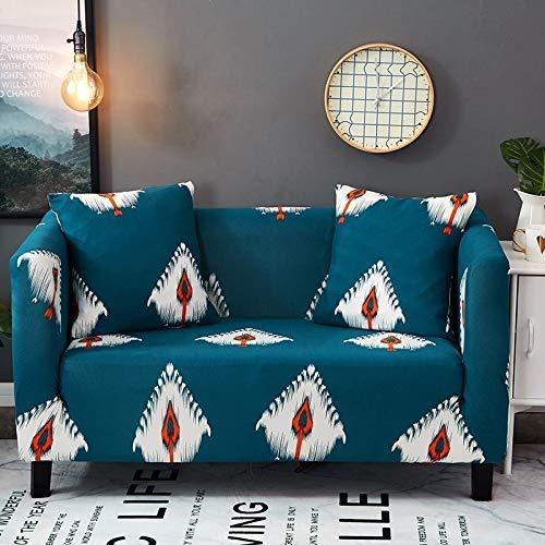 1/2/3/4 sitzer Flexibler Druck Sofa Abdeckung elastische Stretch Couch abdeckungen Loveseat sofaCover Dekoration Kissen Kissenbezug (90-300 cm), B6001,1 sitzer 90-140 cm -