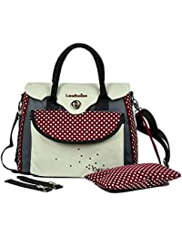 Landou Dot Design Oxford Water Proof Tote Maternity Bag (White)