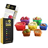 Portion Control Containers by Renegade Active - Multi colored 7 Piece Portion Control Containers With Lids - Comparable with 21 Day Fix - Reach your Beachbody - Refund & Replacement Guarantee
