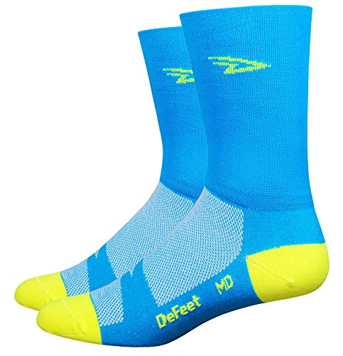 DeFeet airthvb401Aireator hoch Hi-Vis blau/gelb XL (Socken Defeet Blau)
