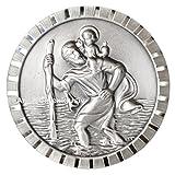 Heiliger St. Christophorus Medaille Emblem Plakette 4,5 cm HR Art. 183