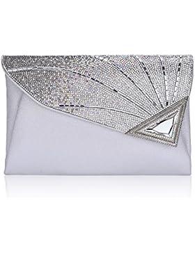 Elegant Abendtasche Damen Clutch Tasche Glitzer Leder Schultertaschen Strass Party Tasche Umhänge Tasche